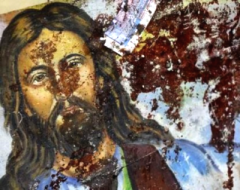 Christ icon blood